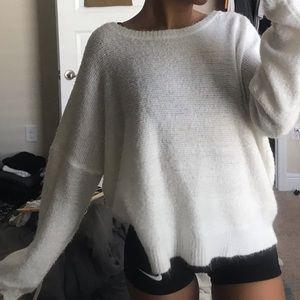 Cute basic white sweater